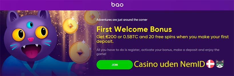 Bao Casino: spil uden NemID mer stor bonus