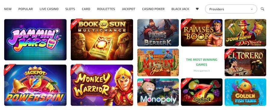 BoaBoa Casino games