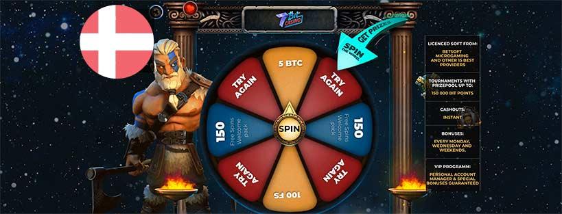 7Bit - Bitcoin casino for Danskere