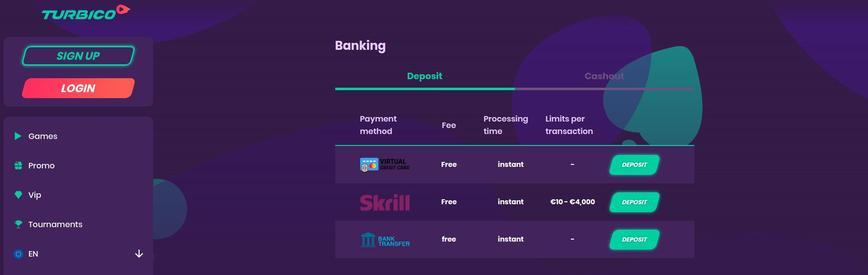 Bredt udvalg af betalingsmetoder
