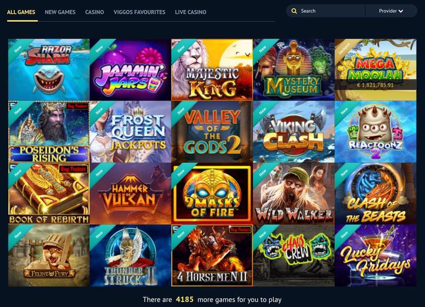 Spil i Viggoslots Casino